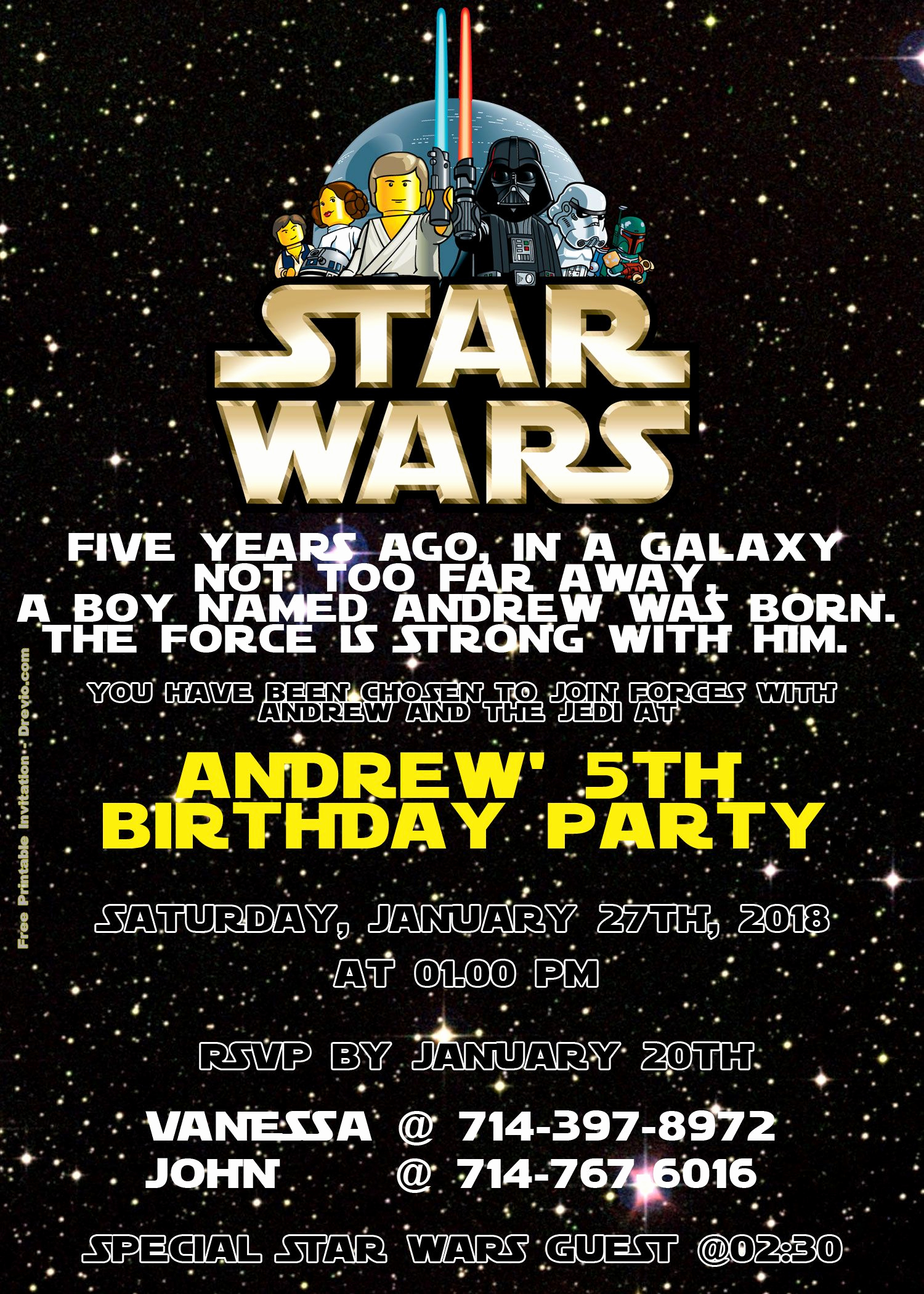 Star Wars Invitation Templates Free Inspirational Free Lego Star Wars Birthday Invitation Psd