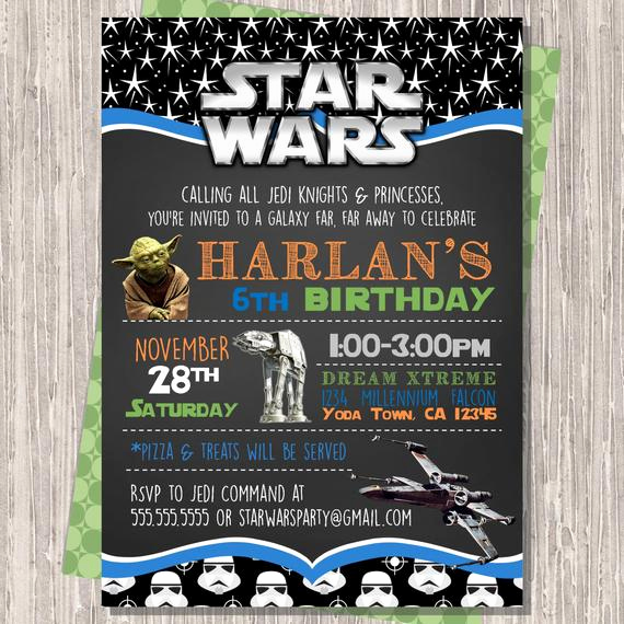Star Wars Invitation Templates Free Luxury Star Wars Invitation Star Wars Birthday Invitation Star Wars
