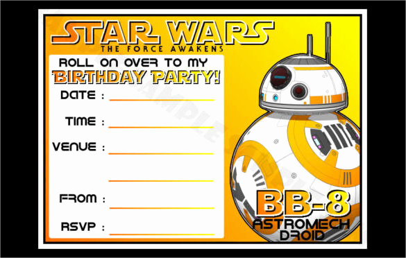 Star Wars Invitation Templates Free Unique 20 Star Wars Birthday Invitation Template Word Psd