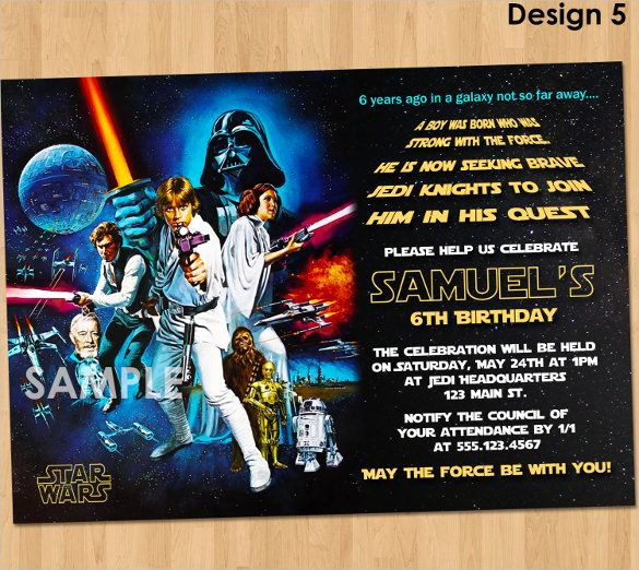 Star Wars Invitation Templates Free Unique 20 Star Wars Birthday Invitation Templates – Free Sample