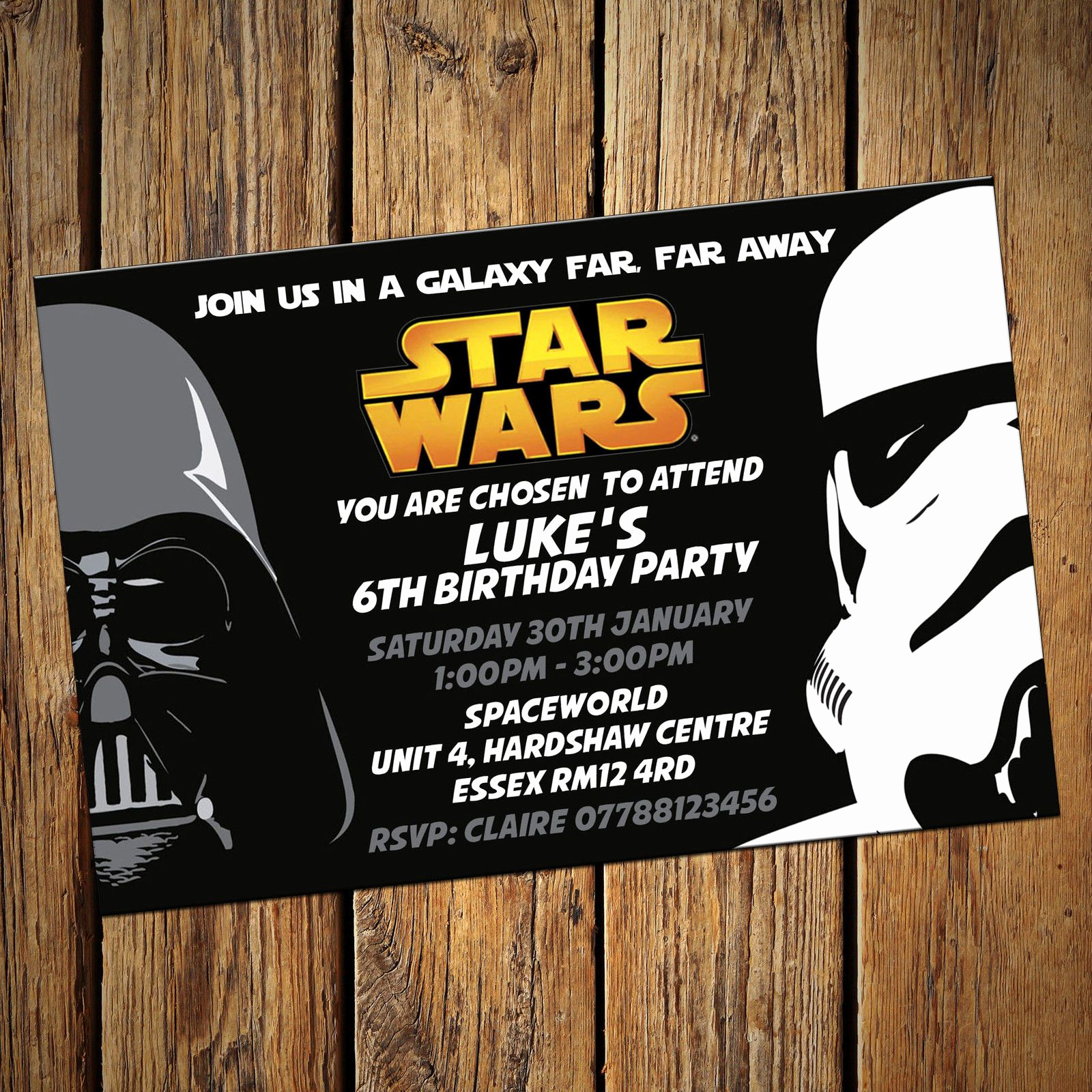 Star Wars Invitation Templates New Personalised Star Wars Invitations Party Invites