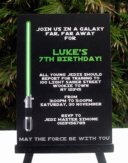 Star Wars Invitation Templates New Star Wars Jedi Training Birthday Party Printables