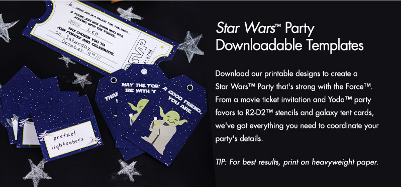 Star Wars Invitation Templates Unique Star Wars™ Party Downloadable Template