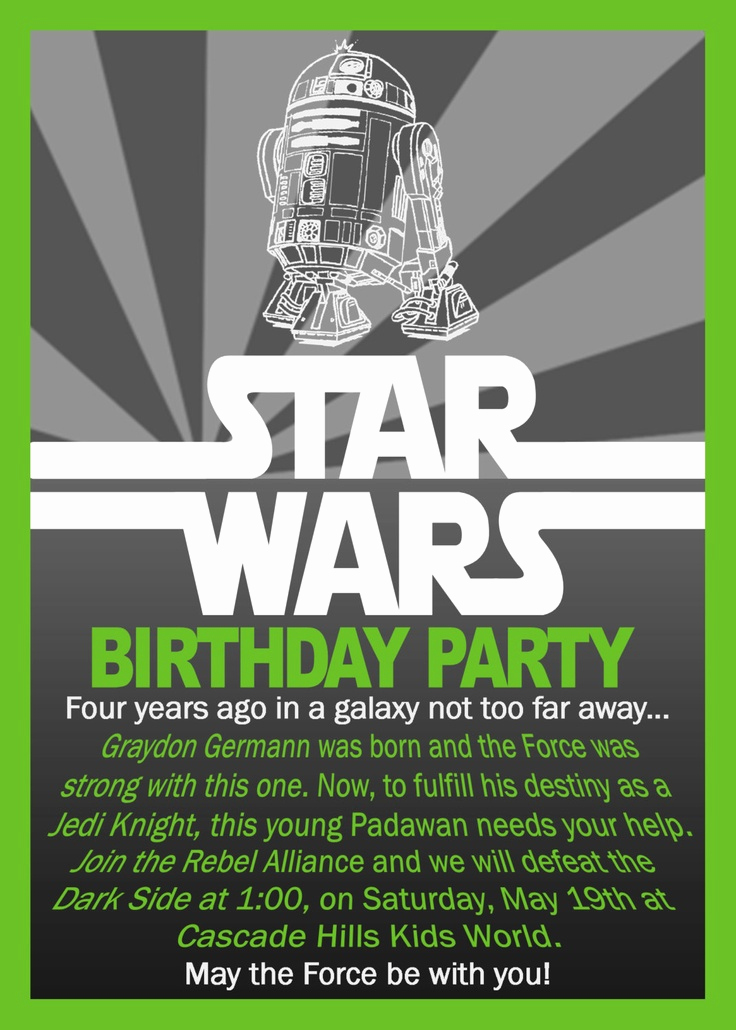 Star Wars Invitation Wording Fresh Free Printable Star Wars Birthday Invitations