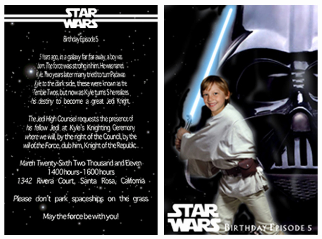 Star Wars Invitation Wording Fresh Star Wars Birthday Party Ideas Invitations Food Decor