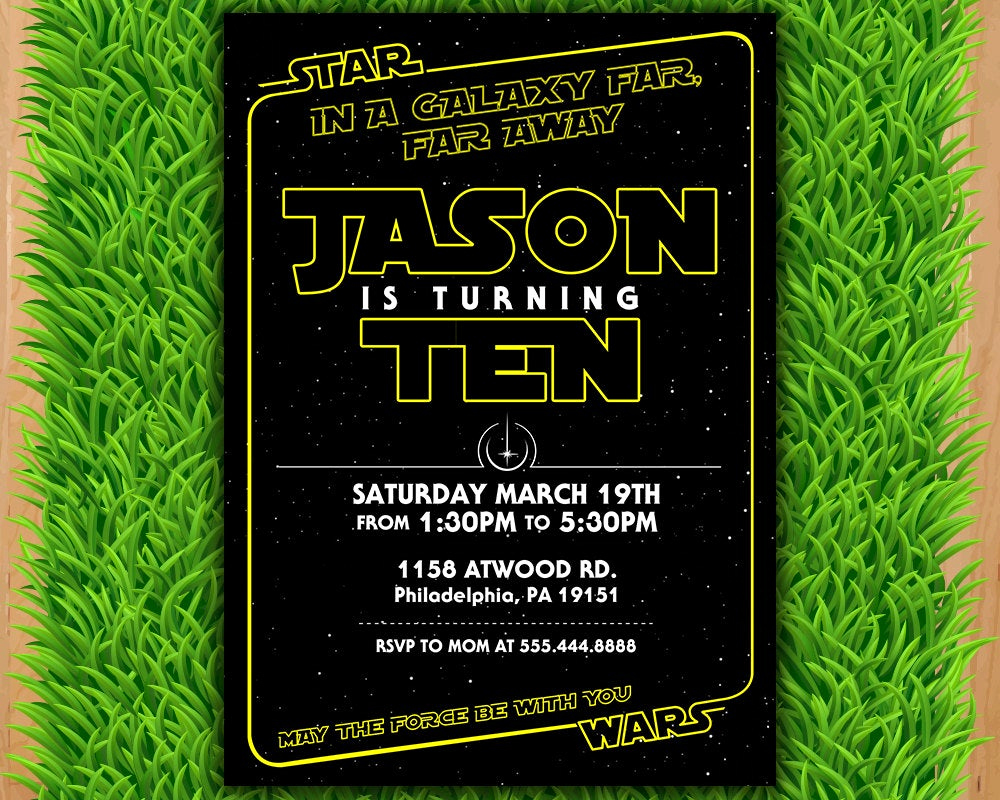 Star Wars Invitation Wording Lovely Star Wars Invitation Star Wars Party Invitation Star Wars