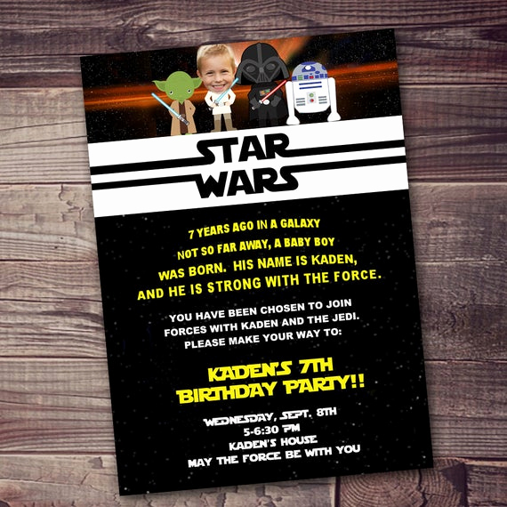 Star Wars Invitation Wording Luxury Fast Ship Star Wars Invitation Free Customization