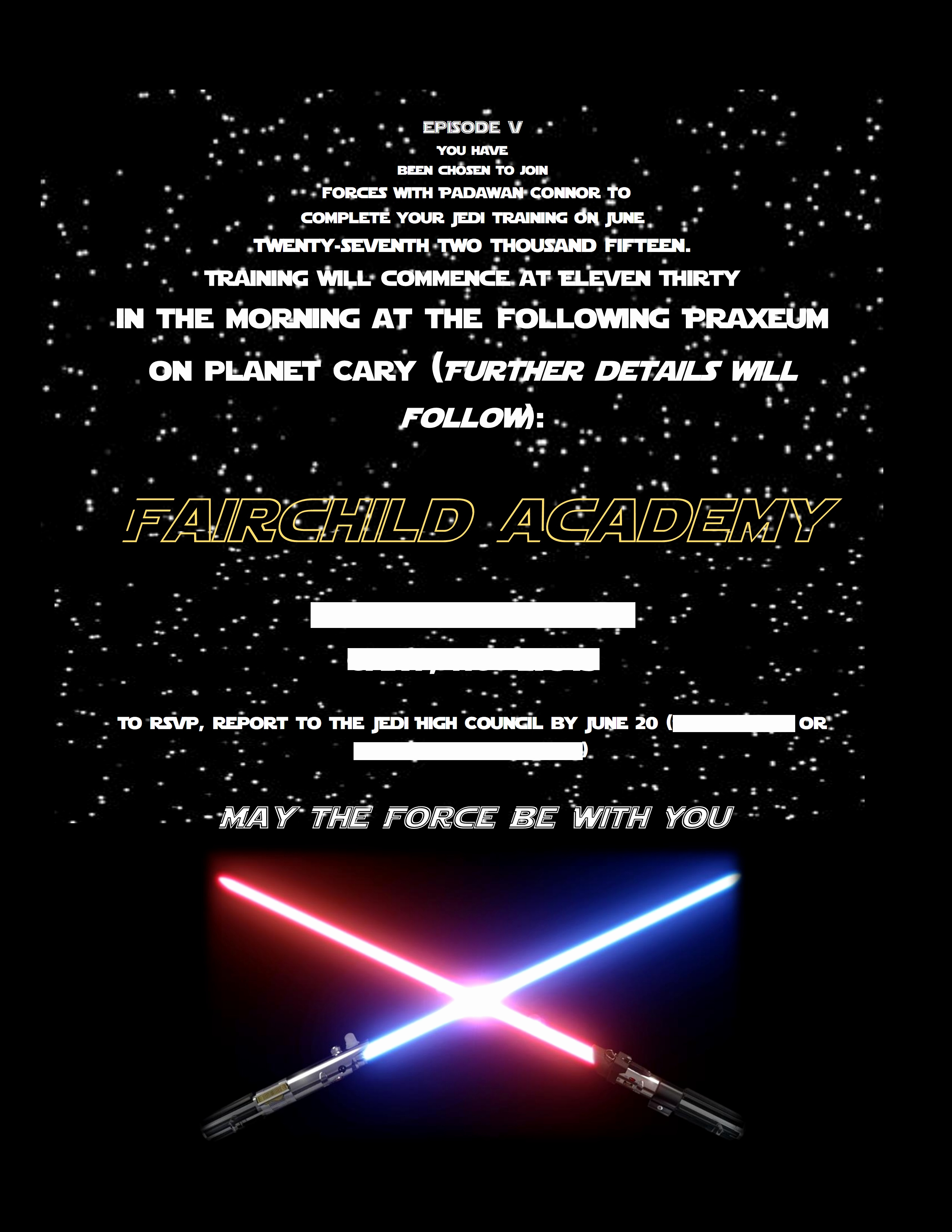 Star Wars Invitation Wording New Diy Lightsabers