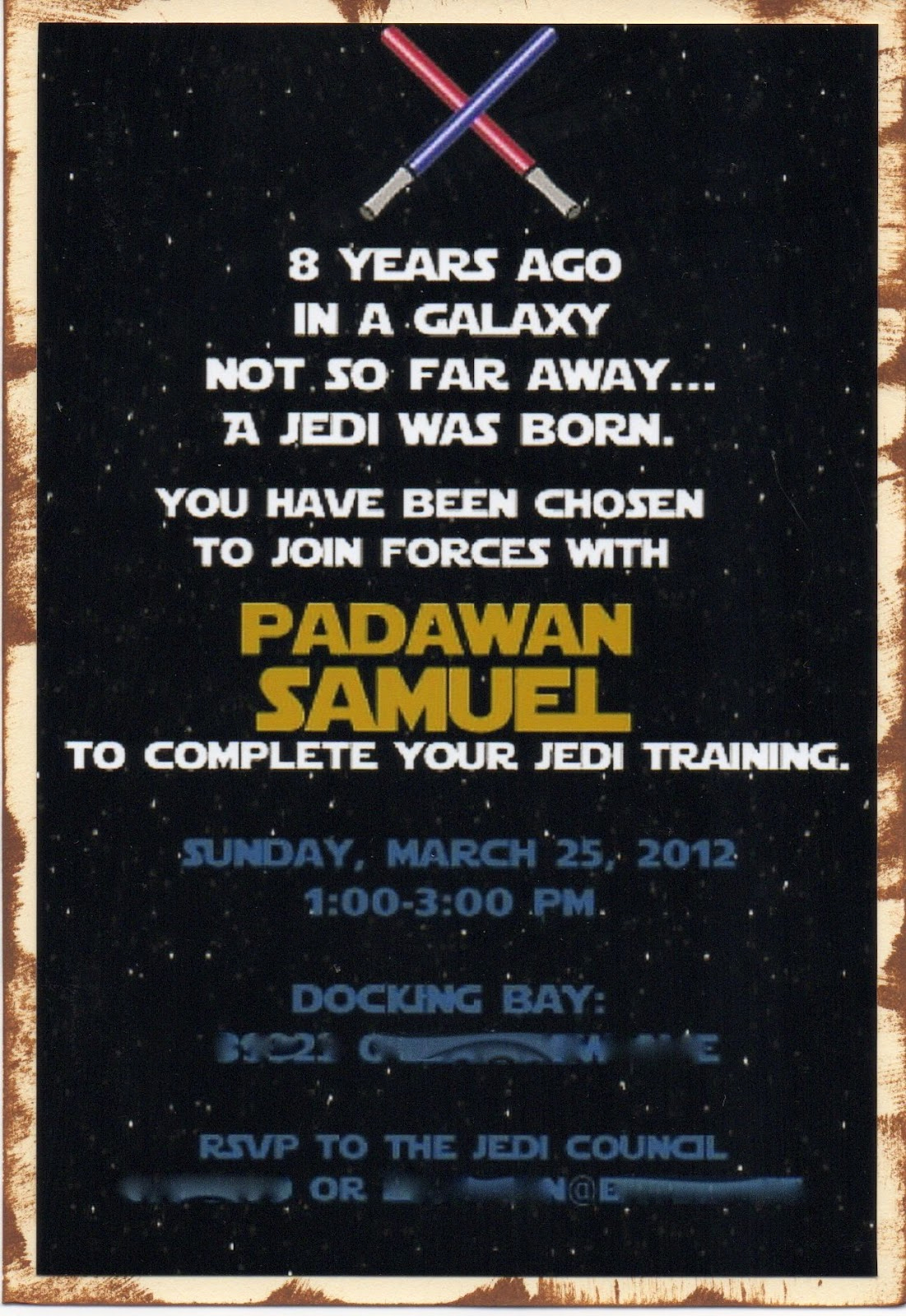 Star Wars Invitation Wording Unique Another Babin Creation Star Wars Birthday Invitation