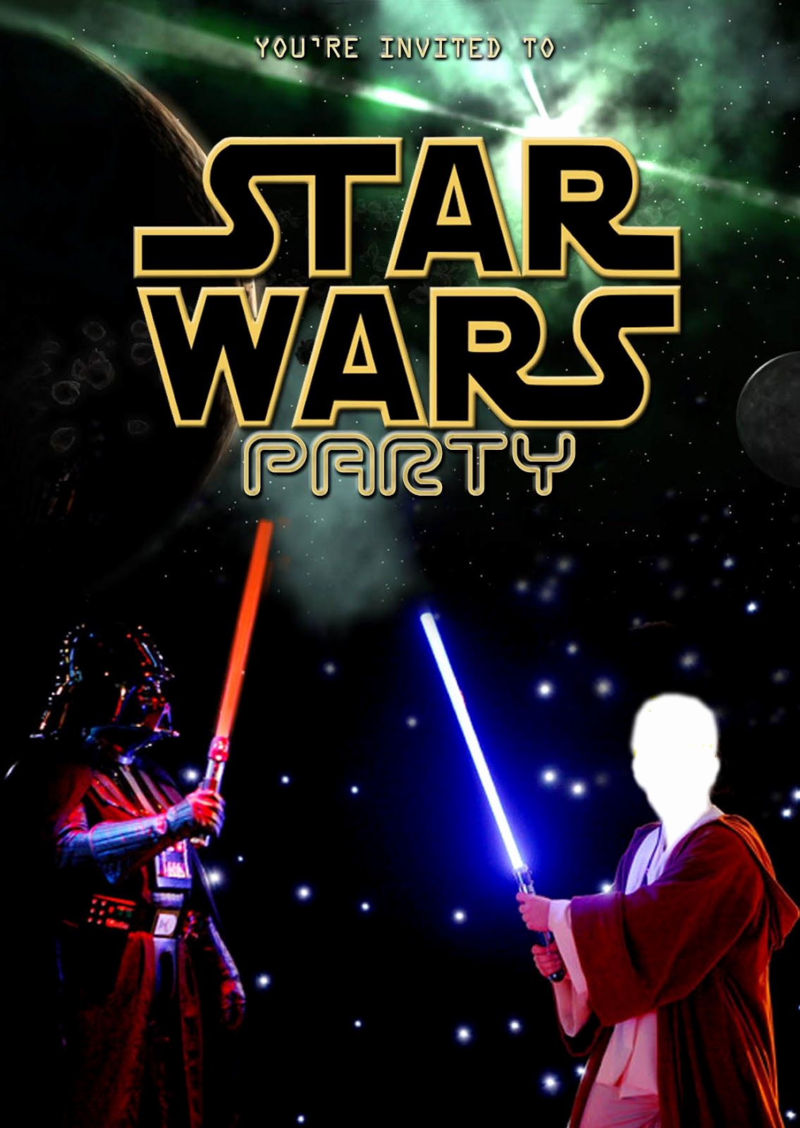 Star Wars Party Invitation Template Beautiful Free Kids Party Invitations Star Wars Party Invitation