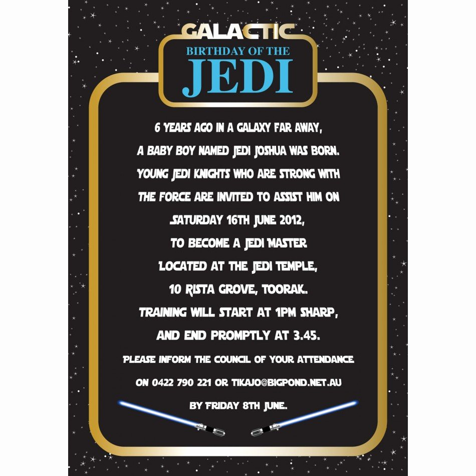 Star Wars Party Invitation Template Inspirational Star Wars Birthday Party