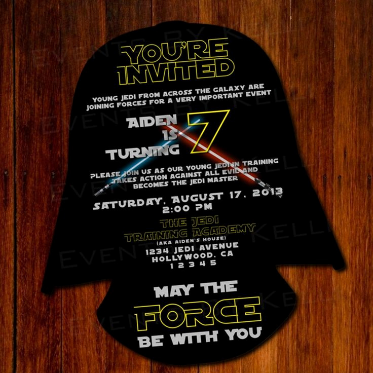 Star Wars Party Invitation Template New 11 Best Star Wars Party Invitation Images On Pinterest
