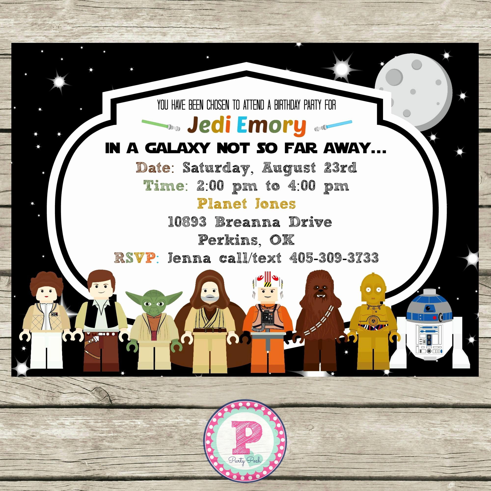 Star Wars Party Invitation Template New Star Wars Birthday Invitations Wording