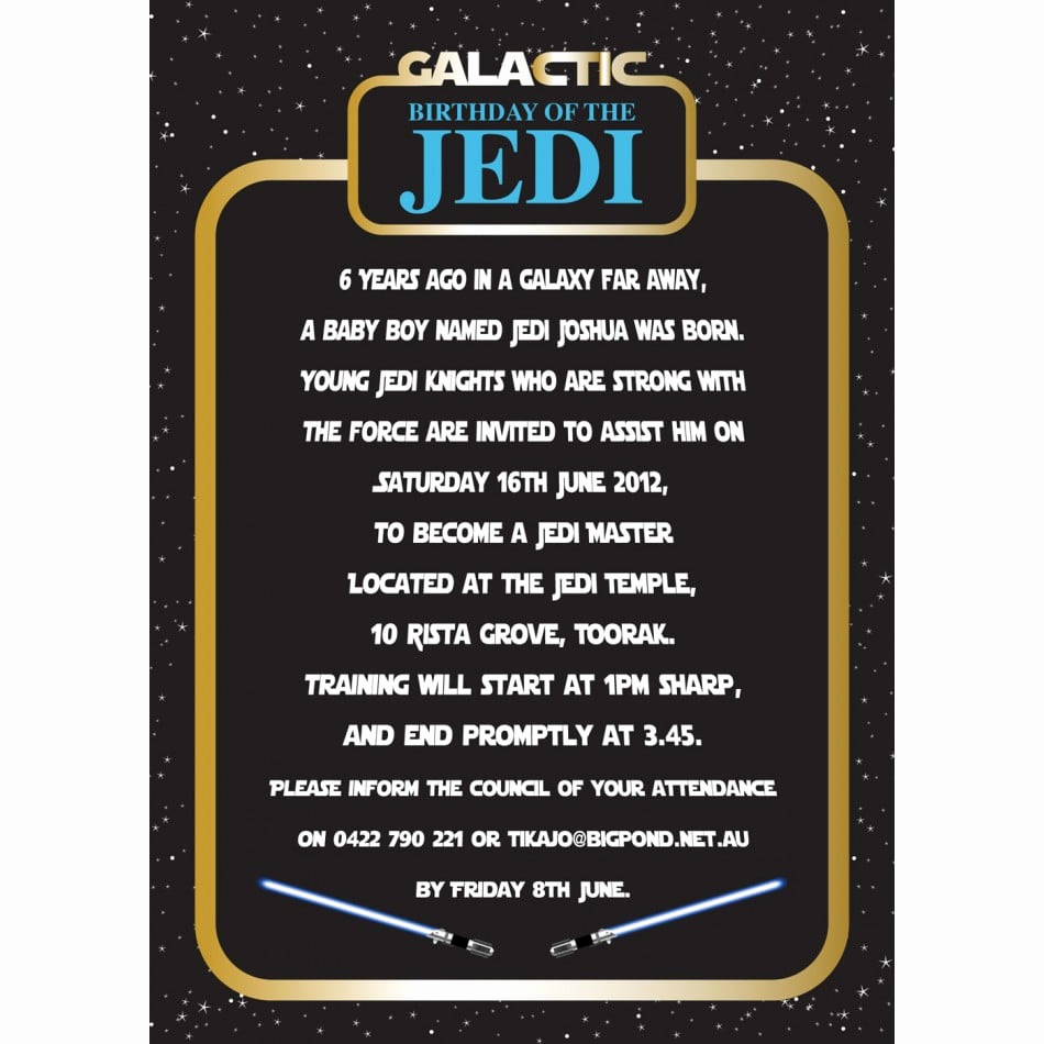 Star Wars Party Invitation Templates Beautiful Invitation Star Wars Birthday Party