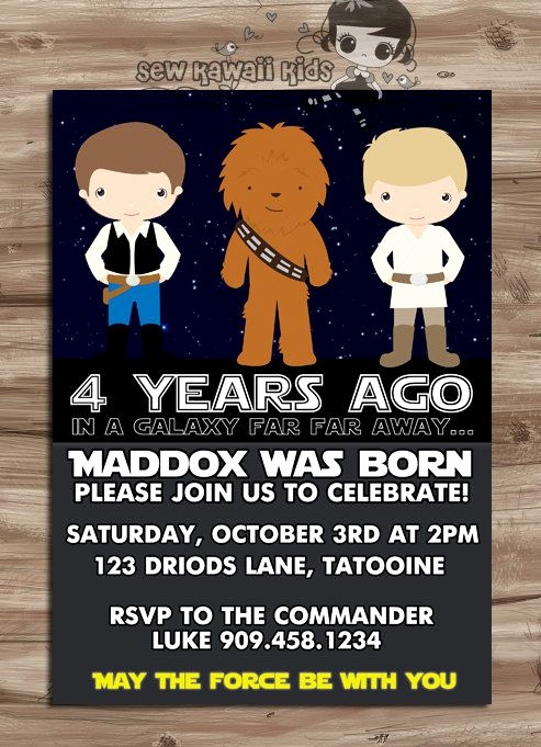 Star Wars Party Invitation Templates Fresh More Than 40 Of the Coolest Star Wars Birthday Party Ideas