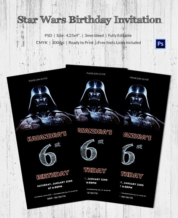 Star Wars Party Invitation Templates Lovely 23 Star Wars Birthday Invitation Templates – Free Sample