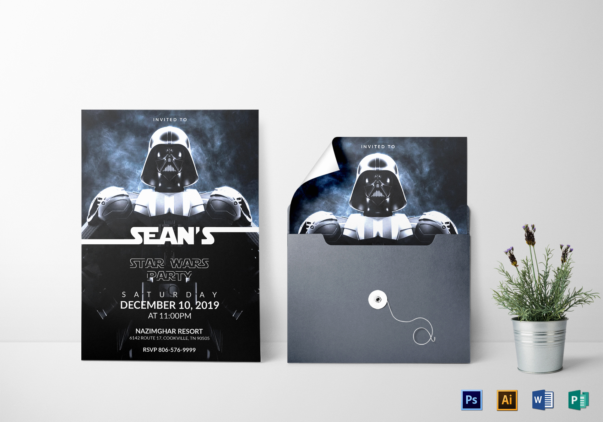 Star Wars Party Invitation Templates Lovely Star Wars the force Awakens Birthday Party Invitation