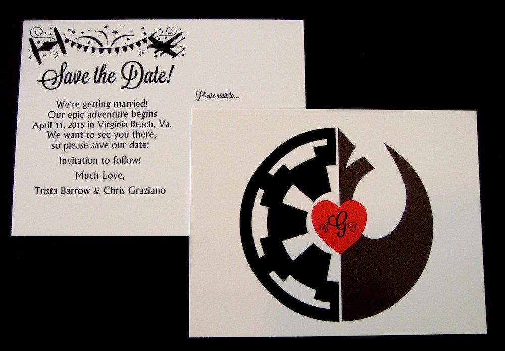 Star Wars Wedding Invitation Awesome An Elegant Star Wars Invitation Suite for A More