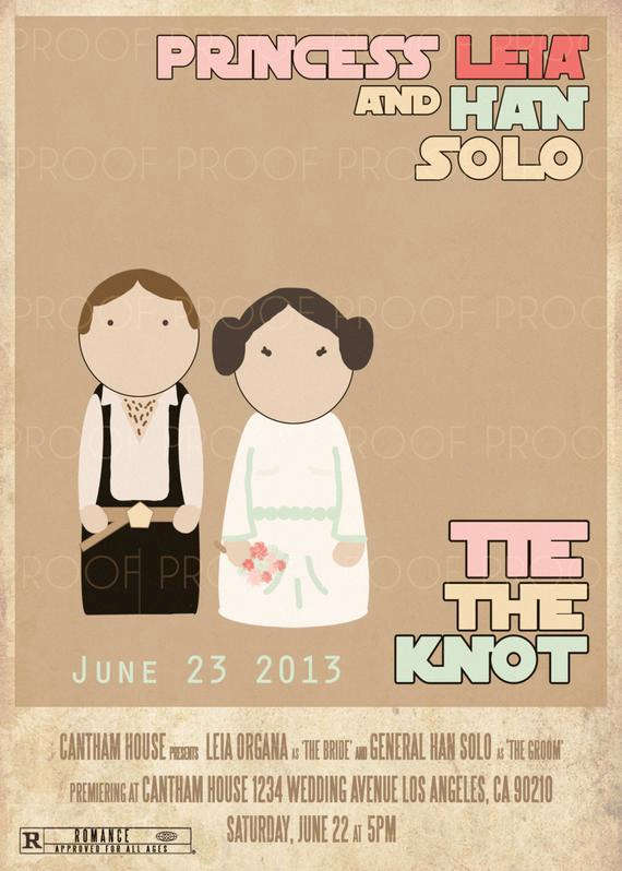 Star Wars Wedding Invitation Beautiful Items Similar to Star Wars Movie Wedding or Party