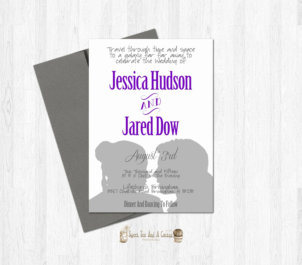 Star Wars Wedding Invitation Best Of Star Wars Wedding Invitation Printable Han and Leia Sci Fi