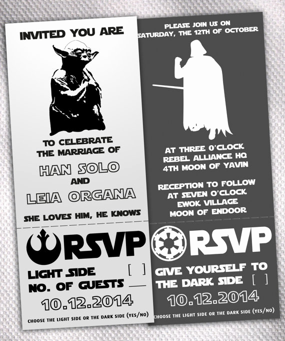 Star Wars Wedding Invitation Fresh Star Wars