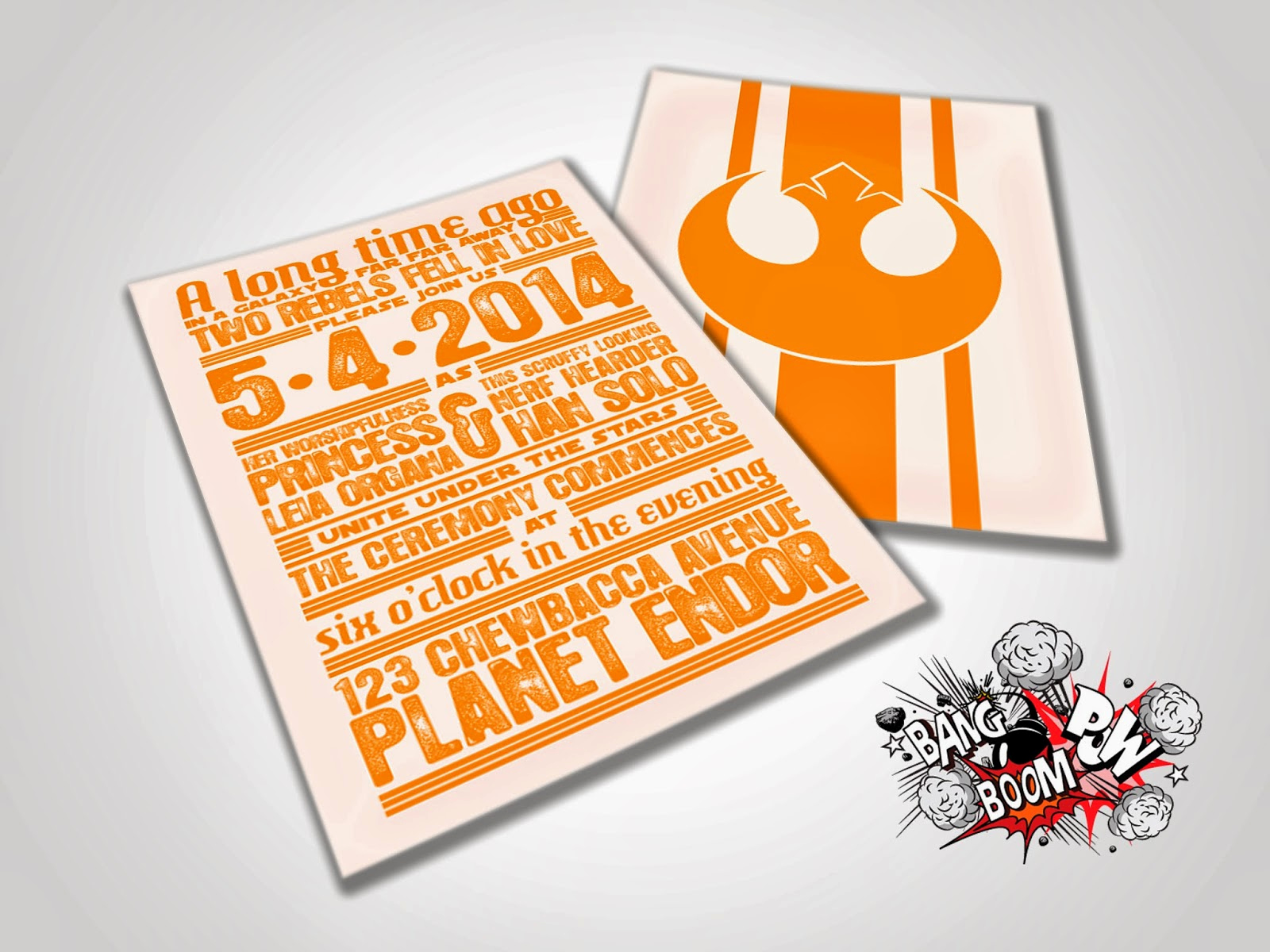 Star Wars Wedding Invitation Inspirational Bang Boom Pow Rebels In Love Star Wars themed Wedding