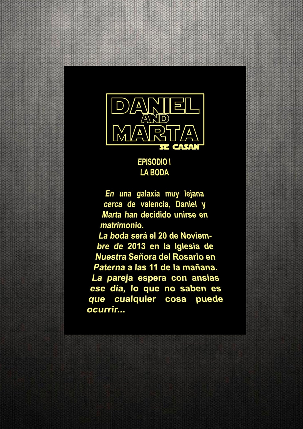 Star Wars Wedding Invitation New Items Similar to Printable Star Wars Wedding Invitation