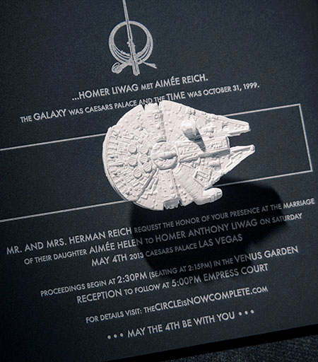 Star Wars Wedding Invitation New Star Wars Wedding Invitations