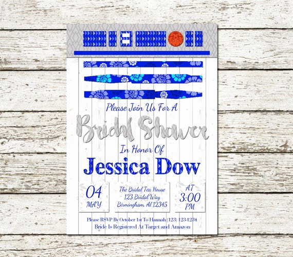 Star Wars Wedding Invitation Unique Star Wars Bridal Shower Invitation Printable by