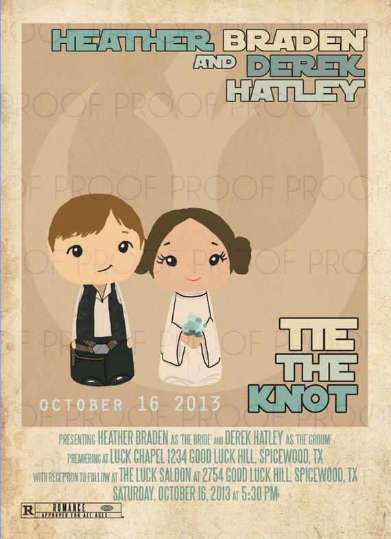 Star Wars Wedding Invitation Unique Star Wars Inspired Wedding or Party Invitation Printable