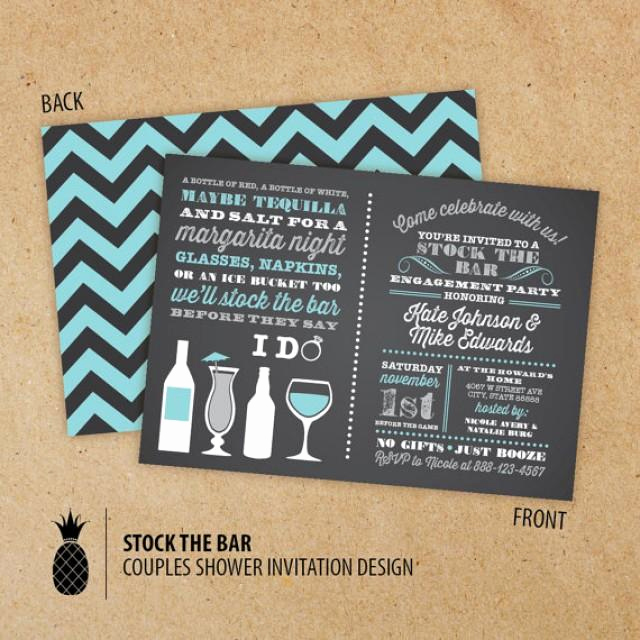 Stock the Bar Invitation Inspirational Stock the Bar Couples Engagement Party Invitations