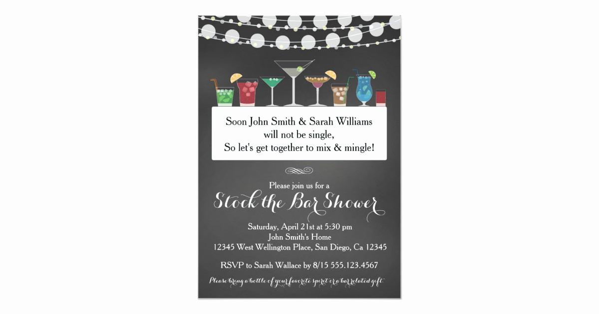 Stock the Bar Invitation Unique Stock the Bar Couples Wedding Shower Invitation