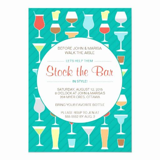Stock the Bar Invitation Unique Stock the Bar Invitation