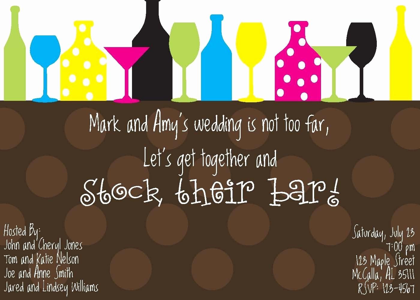 stock the bar invitation