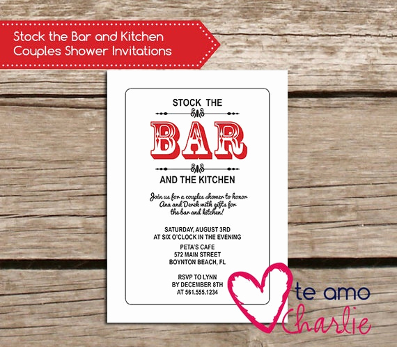 Stock the Bar Invitation Wording Inspirational Items Similar to Stock the Bar and Kitchen Couples Shower