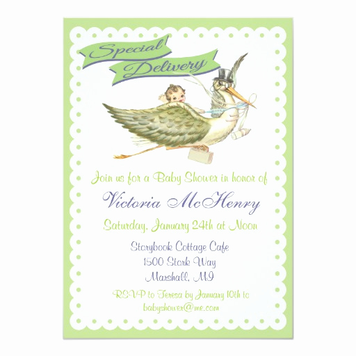 Storybook Baby Shower Invitation Awesome Vintage Storybook Stork Baby Shower Invitations