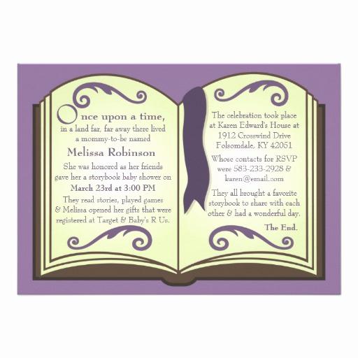 "Storybook Baby Shower Invitation Beautiful Storybook Baby Shower Invitations 5"" X 7"" Invitation Card"