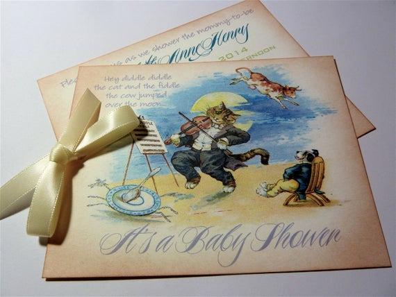 Storybook Baby Shower Invitation Best Of Baby Shower Invitation Vintage Storybook themed Set Of 10