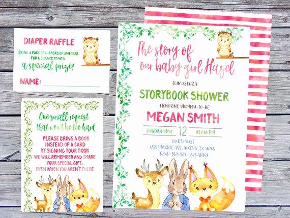 Storybook Baby Shower Invitation Best Of Storybook Baby Shower Invitation Storybook Invitation