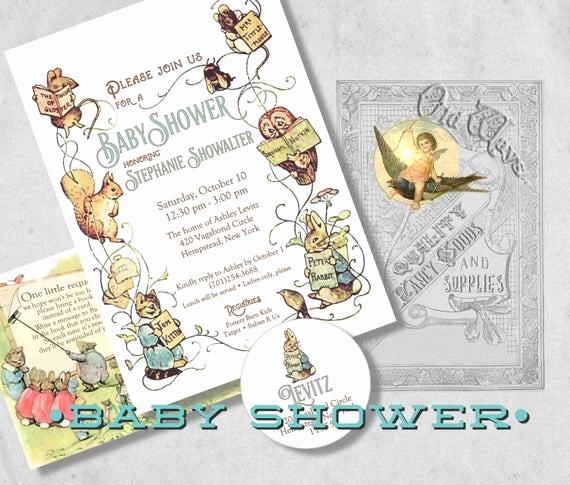 Storybook Baby Shower Invitation Elegant Storybook Baby Shower Invitation Beatrix by