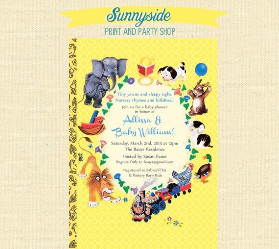 Storybook Baby Shower Invitation Fresh Baby Shower Nursery Rhyme Storybook Book by