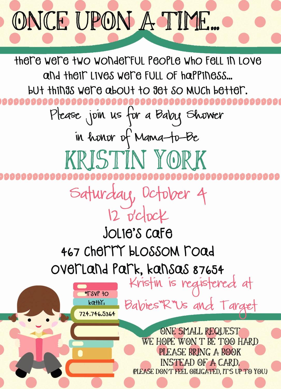 Storybook Baby Shower Invitation Fresh Storybook Baby Girl Shower Invitation by Pumpkinseedpaperie