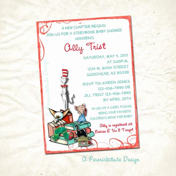Storybook Baby Shower Invitation Fresh Storybook Baby Shower Invitation Printable File by
