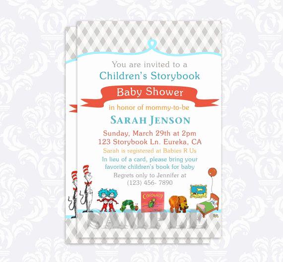 Storybook Baby Shower Invitation Inspirational Storybook Baby Shower Invitation Book Baby by