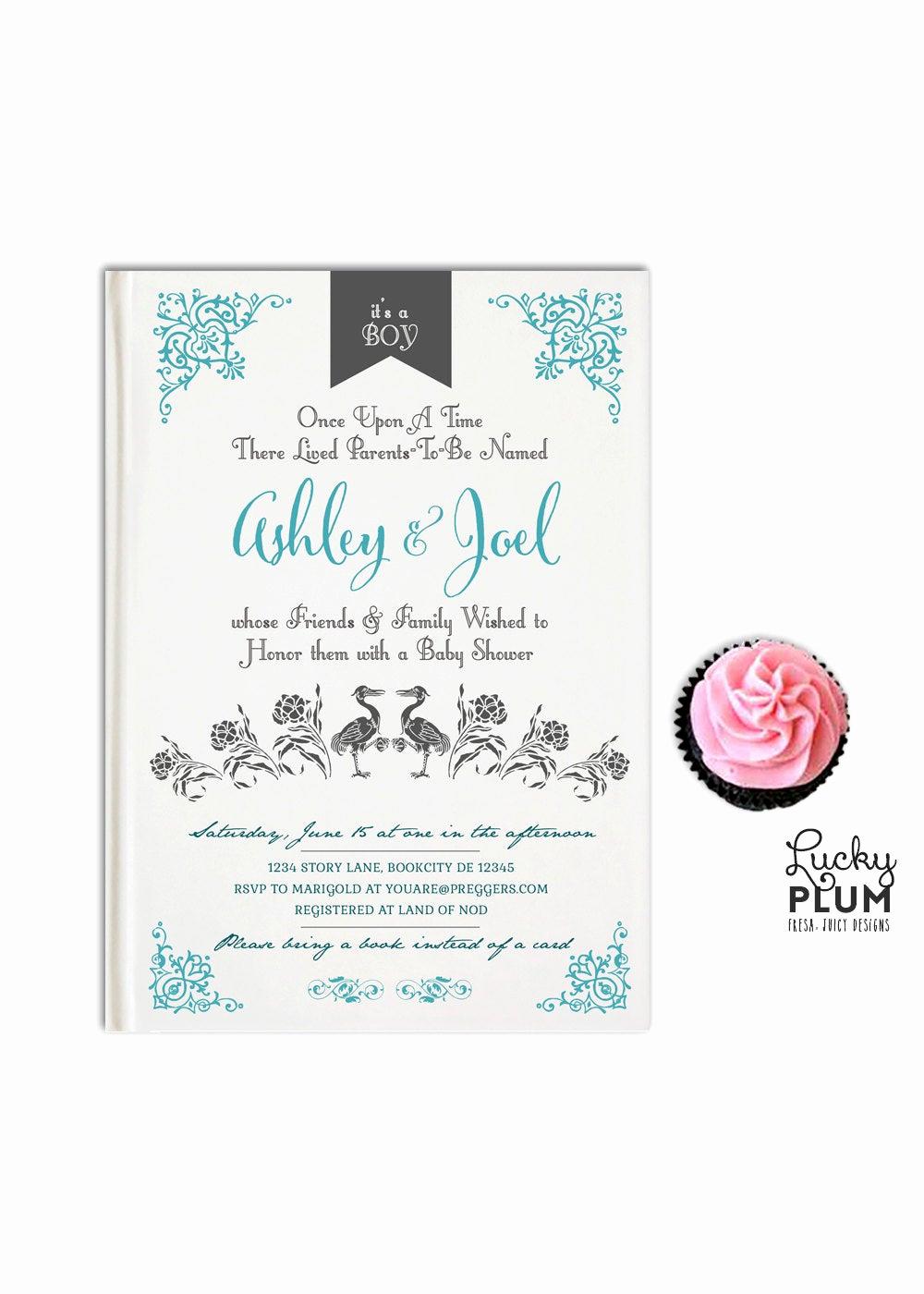 Storybook Baby Shower Invitation Inspirational Storybook Baby Shower Invitation Book Baby Invitation Ce