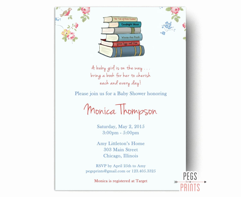 Storybook Baby Shower Invitation Inspirational Storybook Baby Shower Invitation Printable Book by