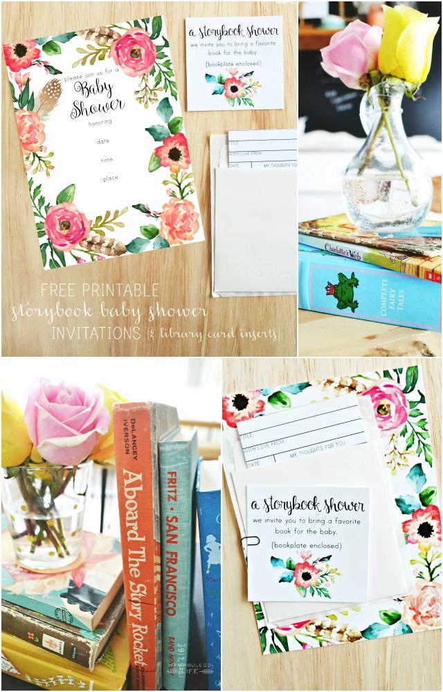 Storybook Baby Shower Invitation Unique Free Printable Baby Shower Invitations