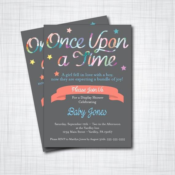 Storybook Baby Shower Invitation Unique Storybook Baby Shower Invitation Diy Printable