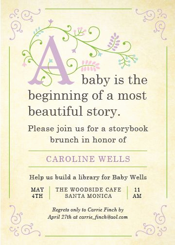 Storybook Baby Shower Invitation Wording Fresh Storybook by Poka Labs but Change the Wording Babies are