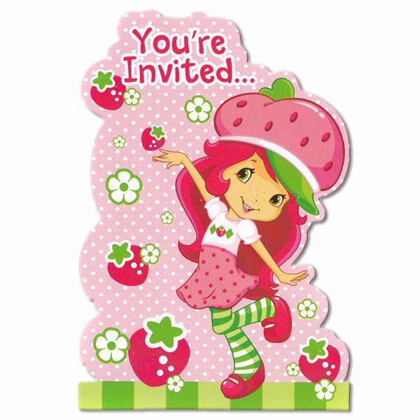 Strawberry Shortcake Invitation Template Free Beautiful Strawberry Shortcake Birthday Invitations